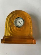 More details for baccarat amber glass desk clock