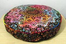 Indisch Sitzkissen Boden Kostüm Traditionell Flickwerk Werfen 88.9cm Rund Bezug