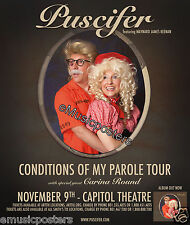 "PUSCIFER/CARINA ROUND""CONDITIONS OF MY PAROLE TOUR""2011 SALT LAKE CONCERT POSTER"