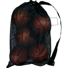 Mesh Equipment Bag Soccer Basketball Volleyball Coaches Black Strap Heavy Duty
