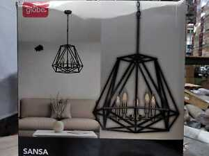 Globe Electric Sansa 5-Light Dark Bronze Chandelier