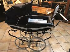 Silver Cross Marlborough, from about 1981 Hand-Crafted Pram Stroller White/Navy