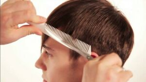 denman pro edge comb scissor tool barber haircut skills