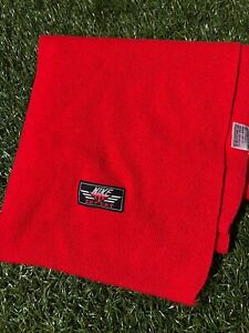 Vintage 90s Nike Scarf Expert Rare Red 1990