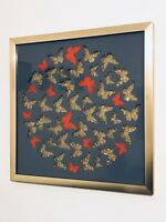 TWELVE RED BUTTERFLIES by Emo Raphiel Astoria signed - banksy un eelus photo