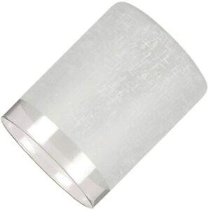 Westinghouse White Linen Cylinder Glass Shade w/ Translucent Band - Set of 3