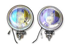 Vespa Lambretta Stainless Spotlights Spots RAINBOW Lens !!