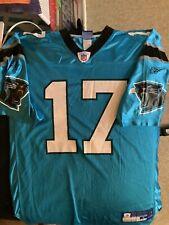 New listing Jake Delhomme Carolina Panthers #17 NFL Football Jersey Reebok L Blue Vintage
