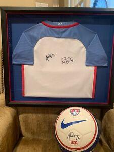 Alex Morgan & Becky Sauerbrunn Signed and Framed Soccer Jersey with Ball