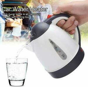 12V 1000ML Stainless Steel Electric In-Car Truck Kettle Car Travel Water Heating