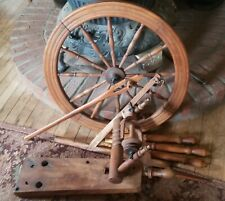Antique Spinning Wheel Single Spindle Needs Reassembly, Missing 2 parts