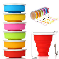 Collapsible Travel Coffee Tea Mug Silicone Outdoor Camping Folding Water Cup NEW