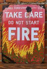 More details for tilhill forestry ltd scotland enamel on metal fire prevention vintage sign