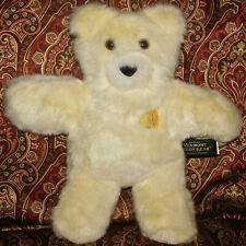 "Authentic Vermont Teddy Bear Plush Stuffed Animal Flat 13"" Lemon on chest Toy"