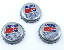 Old Vintage Pepsi Soda Pop Bottle Cap Button Covers Handmade Custom Set of 3