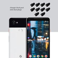 10 x Black Anti Dust Plug charger dock port for lightning For Google Pixel 2 XL