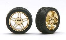 Pegasus 1224 x 1/24-1/25 Elite Gold Rims w/Tires (4)