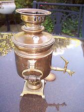 ANTIQUE RUSSIAN 1875-1890 SAMOVAR BRASS BORSCHANOV MEDALS Coal Teapot