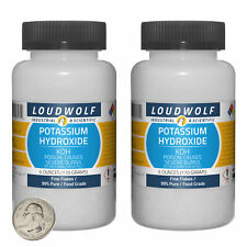 Potassium Hydroxide 12 Ounces 2 Bottles 99 Pure Food Grade Fine Flakes