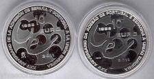 10 Euros 2011 Emision conjunta de España y Portug 2 valores F.N.M.T. plata Proof