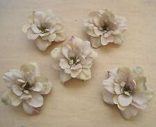 "5 Piece Lot 2.5"" Beige Apple Blossoms Flower Hair Clips,Wedding,Dance,Prom"