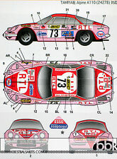 STUDIO 27 RENAULT ALPINE A110 ASEPTOGYL 1973 FEMALE TEAM DECAL for TAMIYA 1/24