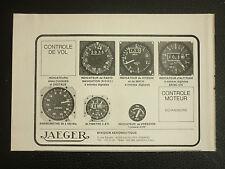 3/1978 PUB JAEGER ALTIMETRE INSTRUMENTS DE VOL RADIO-NAVIGATION MACH PRESSION AD