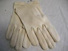 Vintage Gloves Hands 1947-1964 Clothing Accessories Ivory Knit Nylon Small