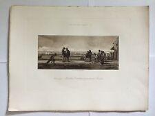 GRAVURE HELIOGRAVURE GEORGES PETIT 1904 DECAMP MATELOTS CATALANS JOUANT BOULES