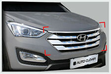 Front Radiator Grille Garnish Chrome Molding For 13~2015+ Hyundai Santa Fe Sport