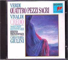 Carlo Maria GIULINI: VIVALDI Credo 591 VERDI Quattro Pezzi Sacri CD Sharon Sweet
