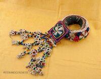 Anello Cerchio Di Portabambino Per Testa Donne Newari Nepal Tessuto & Perles