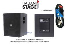 """Italian Stage Proel IS S115A Subwoofer amplificato in legno 700W SUB 15"""" + cavo"""