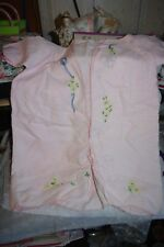 Vintage Hand Embroidered Baby Infant Robe Dressing Gown Pink  50s 60s