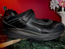 SKECHERS SHAPE-UP MARY JANES BLACK LEATHER SUEDE & MESH 8.5M EXCELLENT