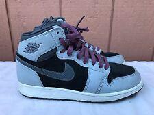 Nike Air Jordan I 1 Retro High GG US 5.5Y WOLF GREY FUCHSIA PURPLE 332148-009