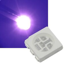 10 UV 5050 SMD LEDs, 3-Chip / PLCC6 HIGHPOWER ultra-violett schwarzlicht Led