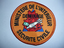 FRENCH MINISTRY OF INTERIOR CIVIL SECURITY BOMB DISPOSAL ARM PATCH 1