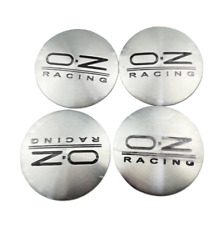 4x56mm Oz Racing Wheel Center Stickers For Opel Mitsubishi Chevrolet Silver