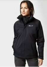 Berghaus Calisto II New Ladies Waterproof 3in 1 Jacket Black Size 14 Inc Fleece