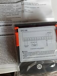 Régulateur de température VOLTCRAFT ETC 100 - 220V50-60 HZ