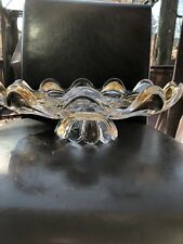 """Czech bohemia crystal  glass - Luxury Cake Plate decorated gold D 12"""""""