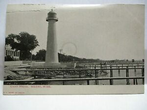 "1900 KROPP CO PHOTO POSTCARD "" LIGHT HOUSE, BILOXI MISS "" UNUSED"