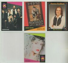4 FLEET WOOD MAC BAND AND POSTER MUSIC CARDS VG/EX?