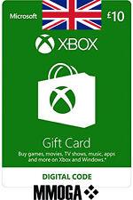 Xbox Live Card 10 Pound Microsoft £10 Gift Code Xbox 360 & One Card 10 GBP [UK]