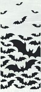 20 x Halloween Black Bats cellophane Treat Bags Cello Party Trick or treat bags
