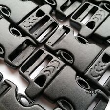 10 X 5/8 WHISTLE BUCKLES FOR PARACORD BRACELET BLACK BUCKLE SURVIVAL ARMY