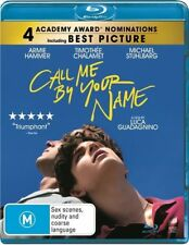 Call Me By Your Name (Blu-ray, 2018) Ex rental