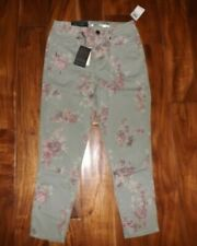 NWT Womens SEVEN 7 Floral Field Green Wash High Rise Skinny Ankle Jeans 6 $69