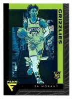 JA MORANT 2019-20 PANINI CHRONICLES #595 FLUX ROOKIE RC SILVER GREEN NBA CARD